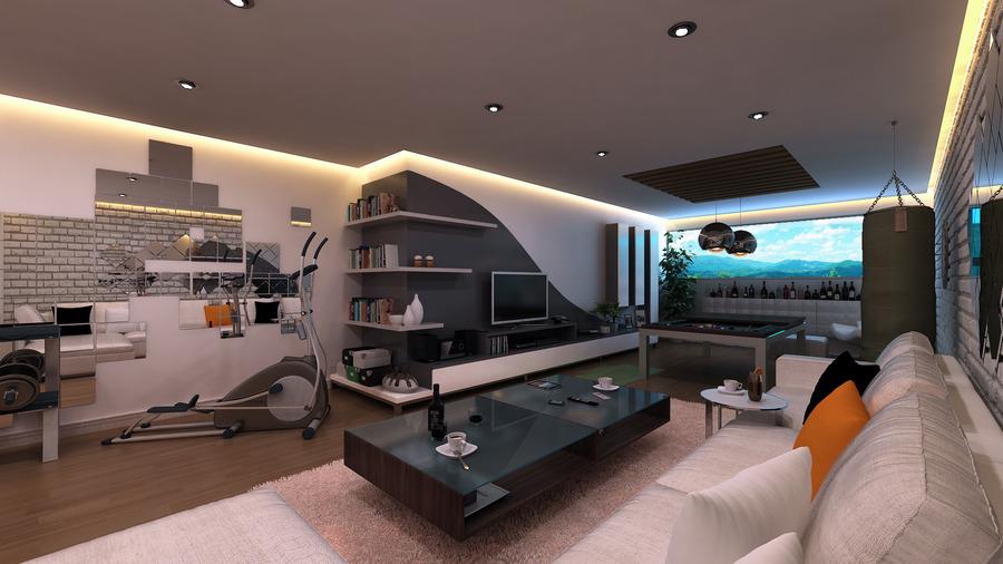 Дизайн спортивной комнаты в квартире